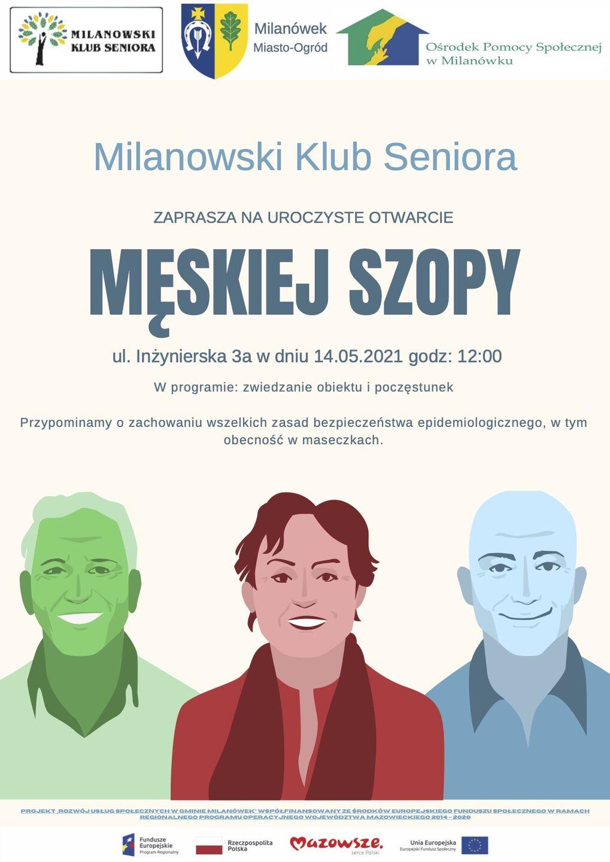 """Uroczyste otwarcie """"Męskiej Szopy"""" - plakat"""