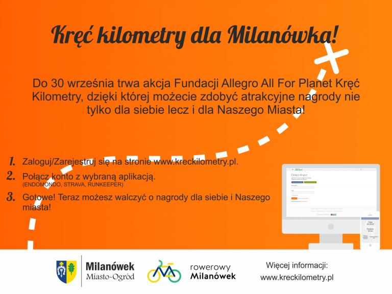 Kręć kilometry dla Milanówka!
