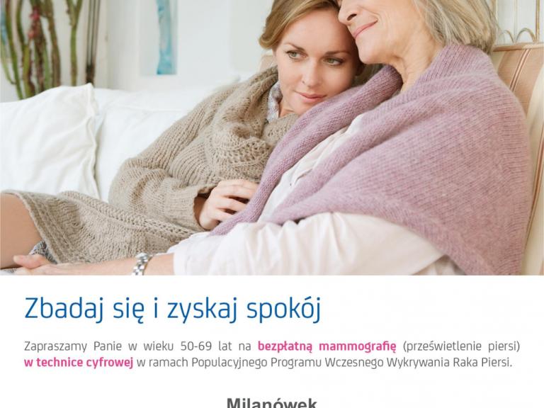 Zbadaj się i zyskaj spokój - bezpłatna mammografia w technice cyfrowej