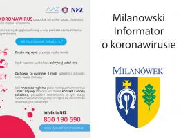 Milanowski informator o koronawirusie